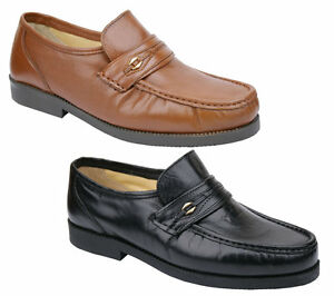 Soft Leather Mens Size  Driving Shoes Wide