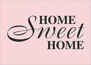 HOME SWEET HOME Quotes decal sticker vinyl wall art home ...