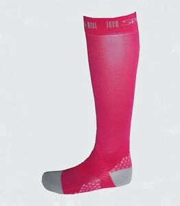 Spun-Performance-Apparel-Medical-Grade-Athletic-Compression-Socks-Pink