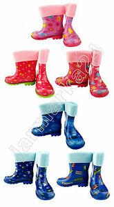 Kinder-Gummistiefel-gefuettert-Regenstiefel-Thermostiefel-NEUWARE