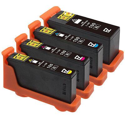 4 Pack 100XL 100 XL Black & Color Ink Cartridges for Lexmark