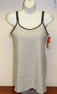 73a39d3e3ea05 Details about NEW Gilligan   O Malley Women s Nursing Cami Hands Free  Pumping Gray Navy XL