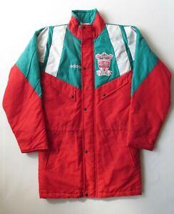 "LIVERPOOL 1991/1992 WINTER JACKET COAT TOP 100 YEARS ADIDAS VINTAGE LFC 34-36"""