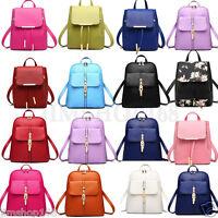 Women Leather Satchel Shoulder Backpacks School Rucksack Travel Handbags Bag Lot