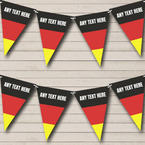 German Flag Germany Personalised Carnival, Fete & Street Party Bunting