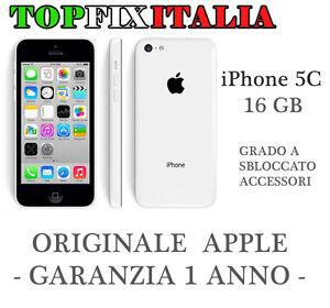 APPLE-IPHONE-5C-16GB-BIANCO-GRADO-A-ORIGINALE-RICONDIZIONATO-GARANZIA-ACCESSORI