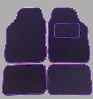 RENAULT TWINGO 2007-2014 TAILORED FLOOR CAR MATS CARPET BLACK MAT PURPLE TRIM