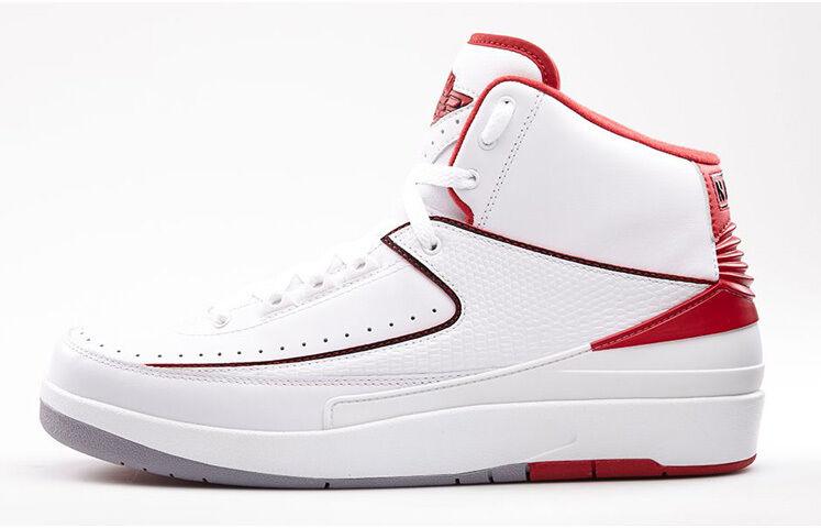2014 nike air jordan 2 ii retro - - - weiß - rote größe 11.385475-102 2cc9f6