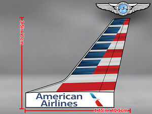 AMERICAN-AIRLINES-AA-AIRCRAFT-TAIL-WITH-NEW-LIVERY-AND-LOGO-DECAL-STICKER