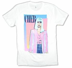 Cher-Pink-Jacket-Pic-Image-White-T-Shirt-New-Official-Merch-Soft