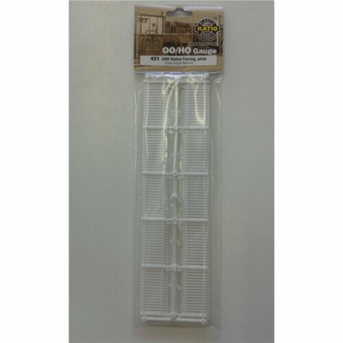 680mm Ratio 421 OO//HO Building /& accessories GWR Station Fencing White