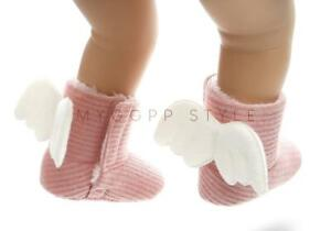 Faux-Fur-Newborn-Baby-Girls-Crib-Shoes-Infant-Child-Angel-Wing-Snow-Winter-Boots