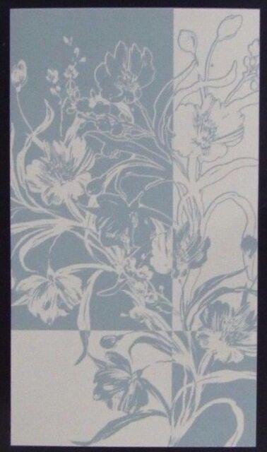 """Loftex Spa & Bath Towel - Lily Pattern: Aqua/Ivory 30"""" x 58"""""""