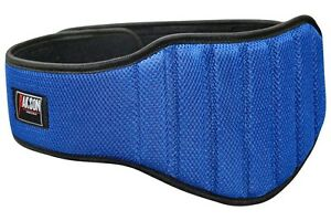 blue 8 inch wide support mesh padded weight lifting belt