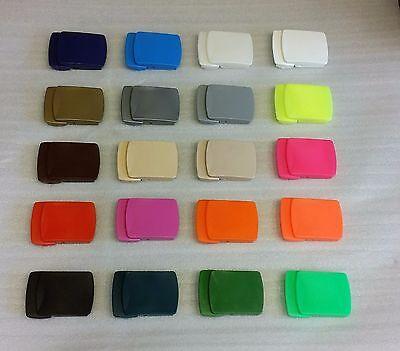 1 X Plastica Di Alta Qualità Cintura Fibbia Universale Made In Germany 20 Colori-mostra Il Titolo Originale Per Godere Di Alta Reputazione Nel Mercato Internazionale