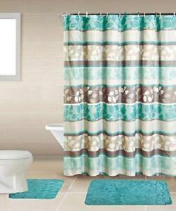 Sapphire Home Rock Embossed Foam Bathroom Mat Rug Set Shower