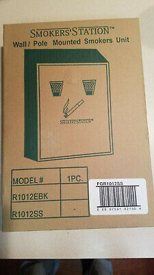 Rubbermaid Commercial FGSSSM Steel Smokers Station In-Ground Pole Mount with Hardware for R1012