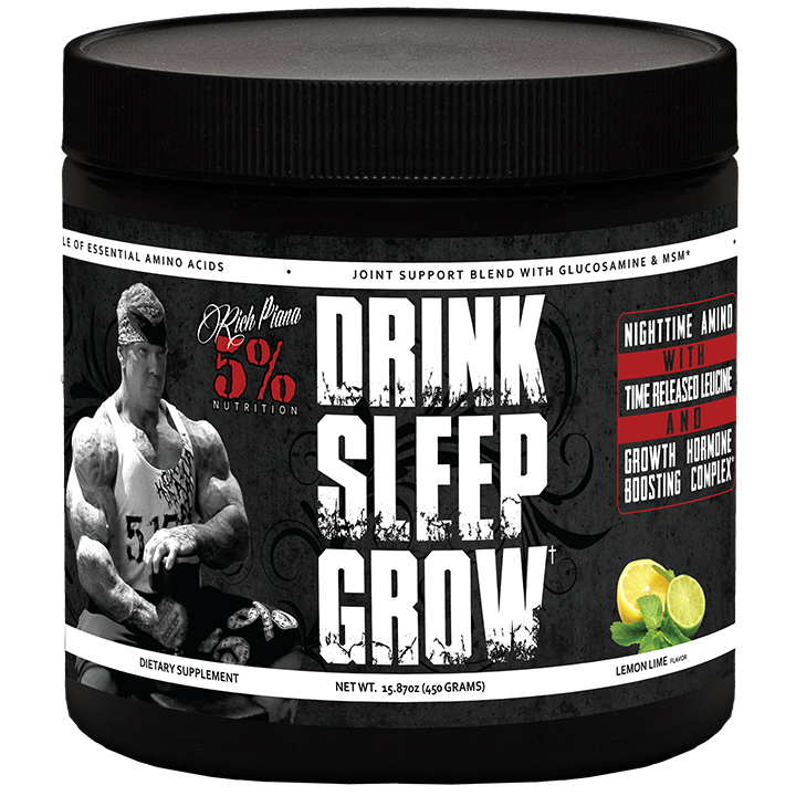 RICH PIANA 5% NUTRITION DRINK SLEEP GROW NIGHT NIGHT GROW TIME RECOVERY BCAA SHAKE 30 SERVS c38956