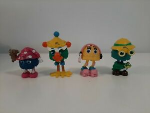 1992-McDonald-039-s-Happy-Meal-Toys-Lot-of-4-Funny-Fry-Friends