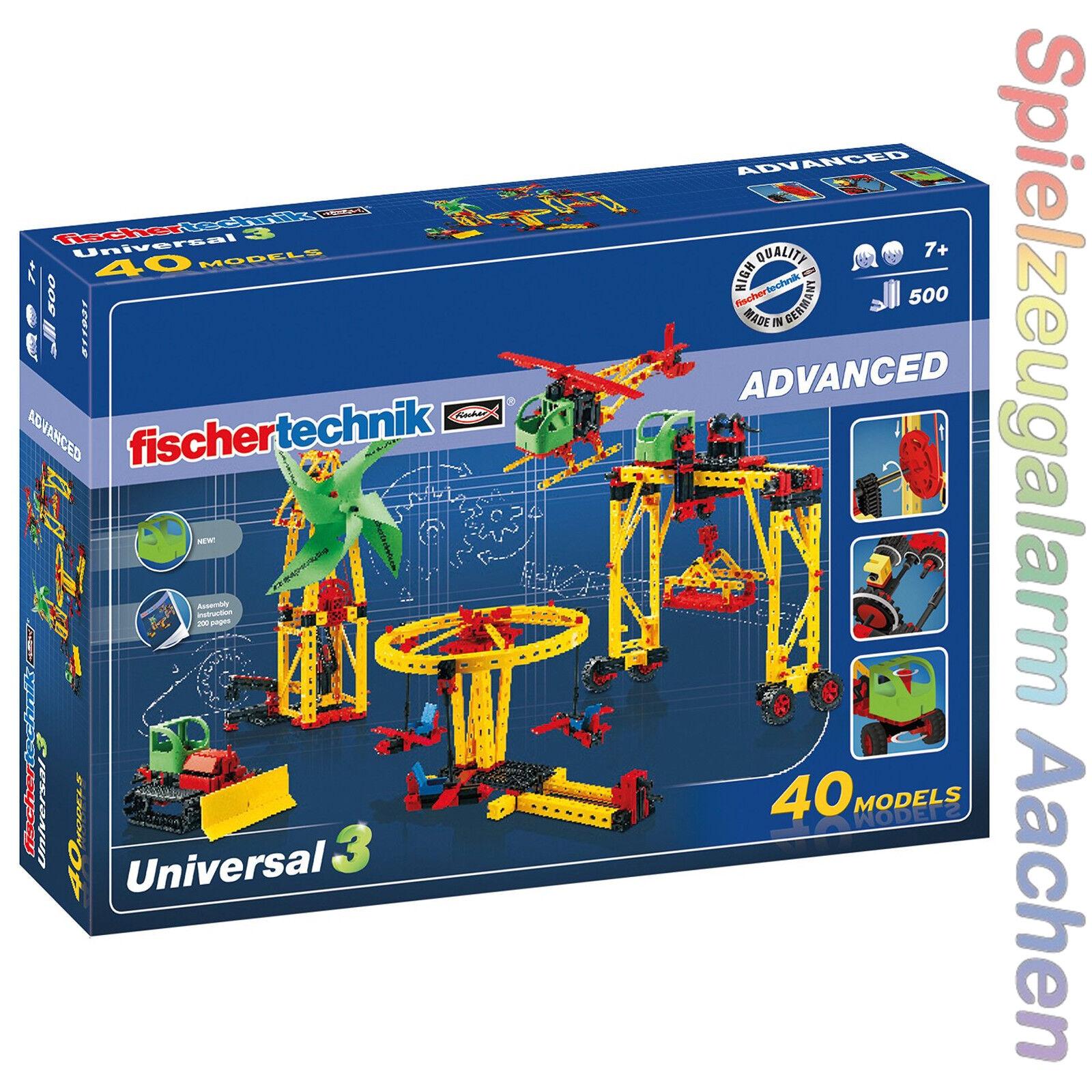 Fischertechnik ADVANCED 511931 Universal 3 Konstruktionsbaukasten 40 Modelle OVP