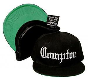 New COMPTON Embroidered Acrylic Flat Bill OLD SCHOOL Acrylic Cap Hat ... 268d09cb668