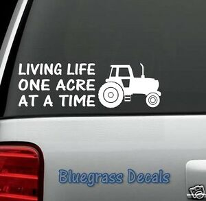B1022 Farm Life Tractor Decal Sticker For Car Truck Suv