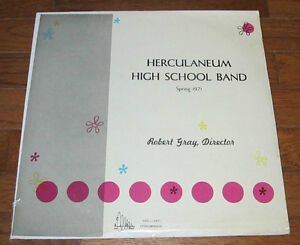LP Record Vinyl Album Herculaneum High School Band 1971 MO Missouri Audio House