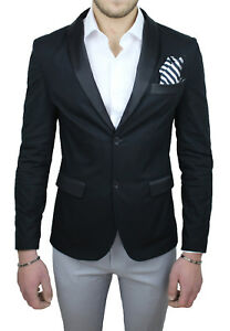 Etro Qbr Made Satin Menns Formell Ceremoni Svart jakke Elegant Italy Bomull In 8UU6nx5R