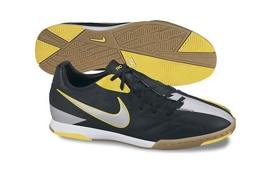 Nike Total 90 Shoot IV IC IC IC Indoor 2012 Soccer shoes New Black - Yellow - Silver cf6c9d