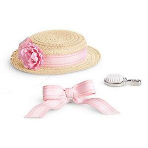 "American Girl SAMANTHA HAIRSTYLING SET for 18"" Dolls Hat Ribbon Samantha's NEW"