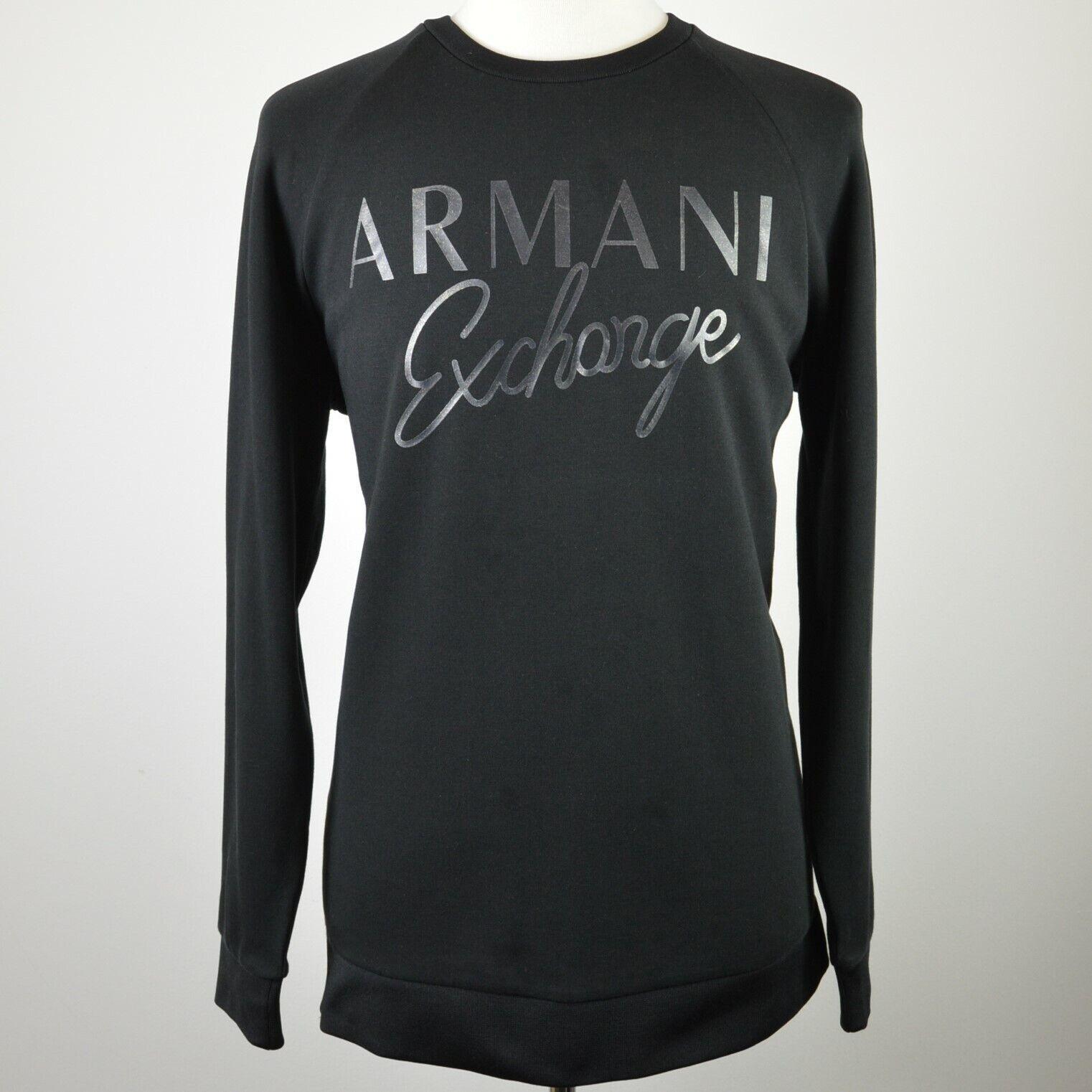 Men's Armani Exchange Black Winter Weight Side Zip Sweatshirt XL RRP