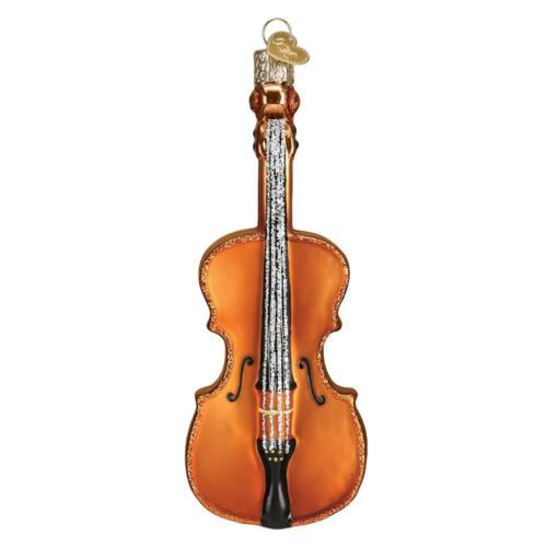CELLO STRING INSTRUMENT ORCHESTRA OLD WORLD CHRISTMAS GLASS ORNAMENT NWT 38053