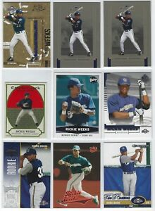 (16)ct RICKIE WEEKS MLB BASEBALL CARD LOT! W/RC'S MILWAUKEE BREWERS!