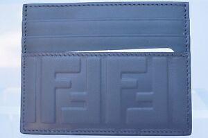 8fcbdcc1ea Details about New Fendi Men's CC Holder Wallet Credit Card Case Logo Sale  Gift