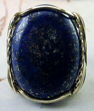 Bold Lapis Lazuli Ring 14k gold filled Mens or Ladies Blue