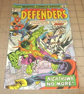 The DEFENDERS #31 (Jan 1976) Good+ Condition Comic - NIGHTHAWK NO MORE!