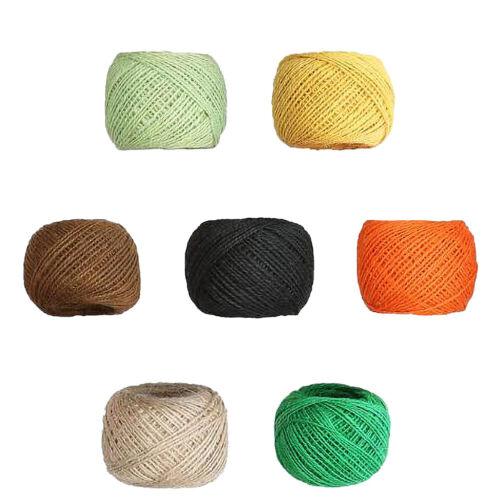 100M*2MM Natural Jute Rope Hemp Twine Strong Cord String DIY Making Craft Chain