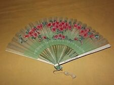 VINTAGE MADE IN JAPAN SHOES FITTED BY X-RAY JAPANESE FLOWERS PAPER HAND FAN