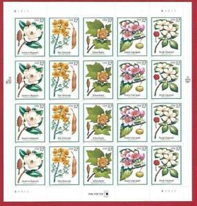 1998 United States/USA , Flores De Árboles N° 3060/3064 Hoja MNH