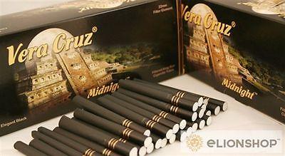 1x Box 200 Count ( Vera Cruz Midnight ) King Size Luxury Cigarette Tubes