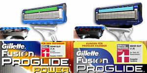Gillette Rasierklingen FUSION PROGLIDE / POWER 8 12 16 24 32