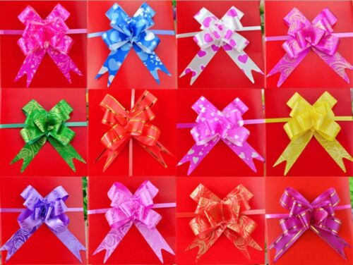 10 Mixed Paper Print Craft Bags Party Christmas Gift Butterfly Flower Bows Wrap