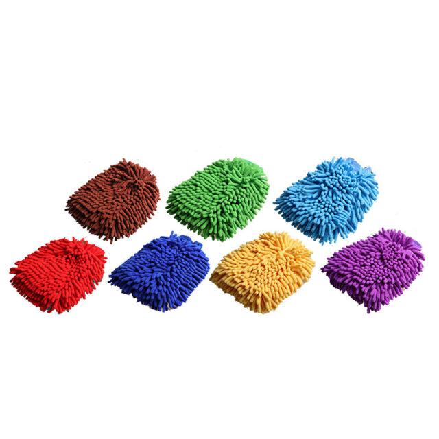 Premium Microfiber Chenille Super Absorbent Wash and Wax Glove A3F1