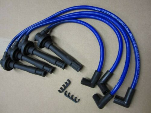 9.3MM 1995-1999 Mitsubishi Eclipse Turbo Blue Spark Plug Wires Leads 90 Degree
