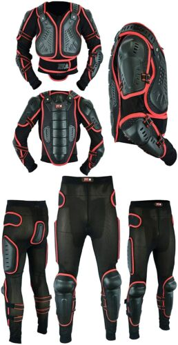 Men's Motorbike Motorcycle Full Spine Body Armour Guard Jacket Protection Suit