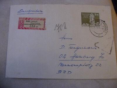 "7.7.74"" Bauten"" Lagerstempel ""limbach-ob Ddr Ef Ausl-r-brief Minr 1882 ""1 M Gr"