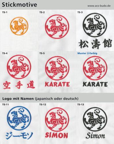 Karate Sweat Shirt oder Jacke mit Shotokan Tiger bestickt