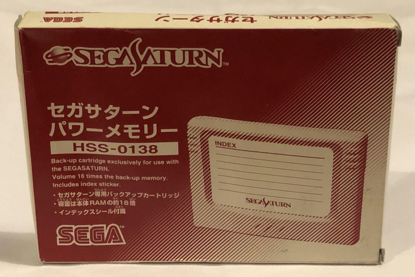 Sega Saturn - Power Backup Memory RAM Cartridge (Complete) NTSC-J HSS-0138 JAPAN