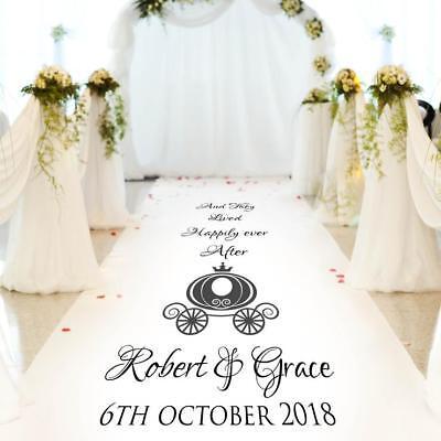 30ft 15ft Church Wedding Carpet Decoration Personalised WEDDING AISLE RUNNER