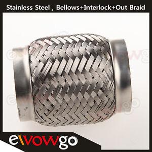 3-5-034-Exhaust-Flex-Pipe-3-1-2-034-x-4-034-OL-Heavy-Duty-Stainless-Steel-Interlock